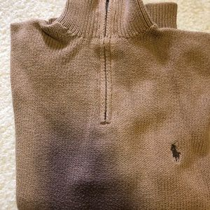 Polo zip up sweater